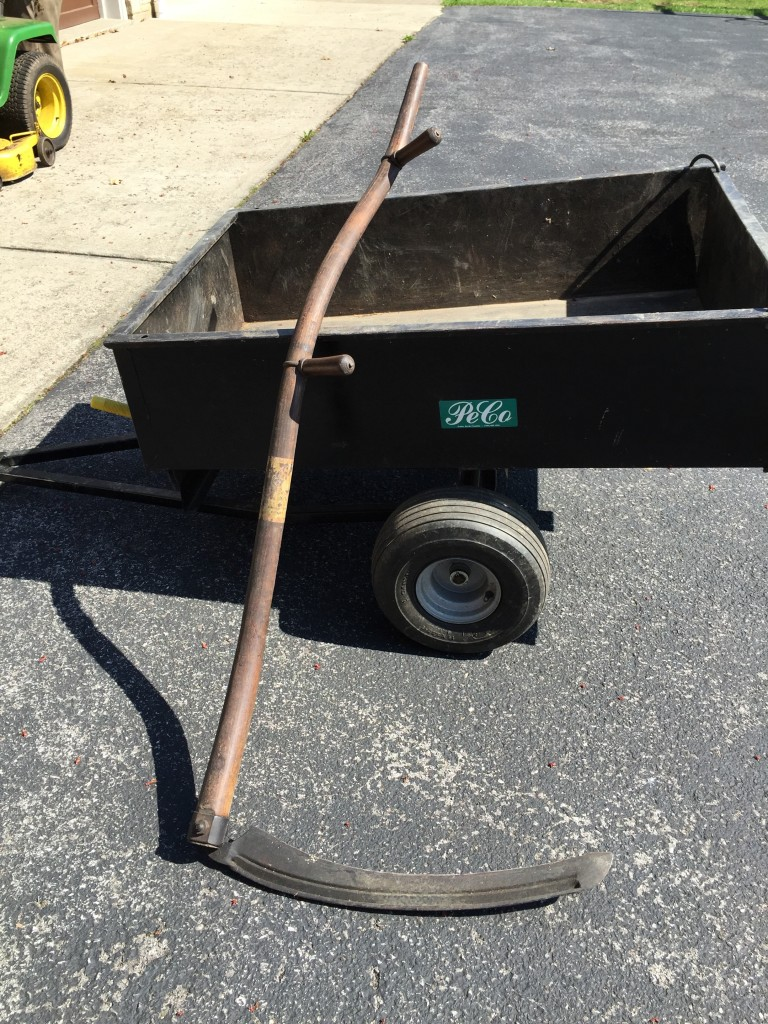 Grandpa's awesome scythe